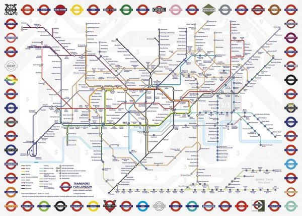 LONDON UNDERGROUND MAP Jigsaw Puzzle 1000 pieces Gibsons