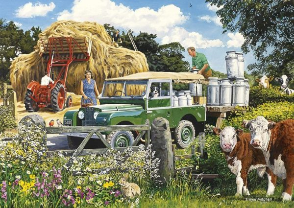 THE FARMERS ROUND 4 x 500 Jigsaw Puzzles Gibsons