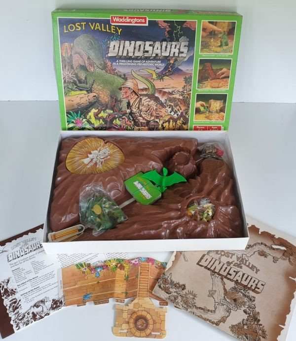 LOST VALLEY OF THE DINOSAURS Vintage board game Waddingtons 1980s