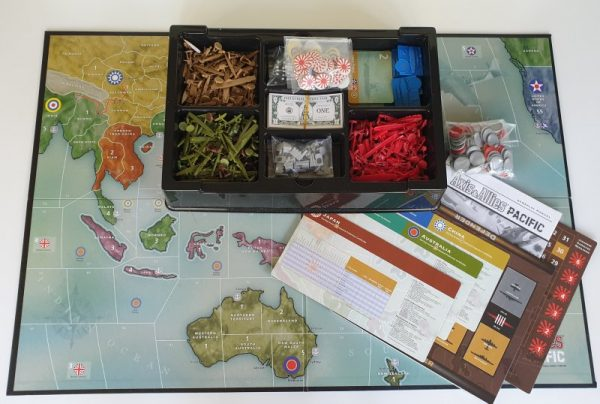 AXIS AND ALLIES PACIFIC Board game 1st Edition Avalon Hill 2001