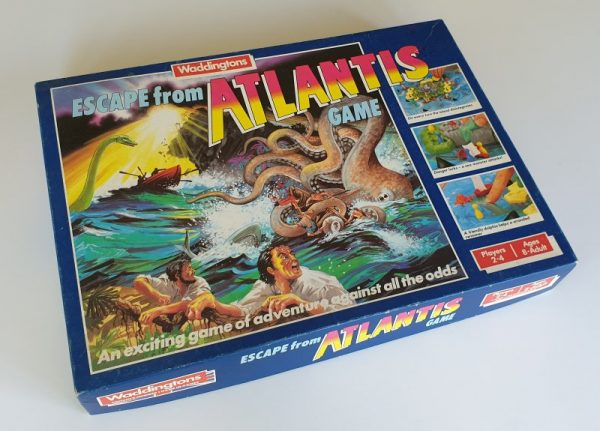 ESCAPE FROM ATLANTIS Vintage board game Waddingtons 1980s