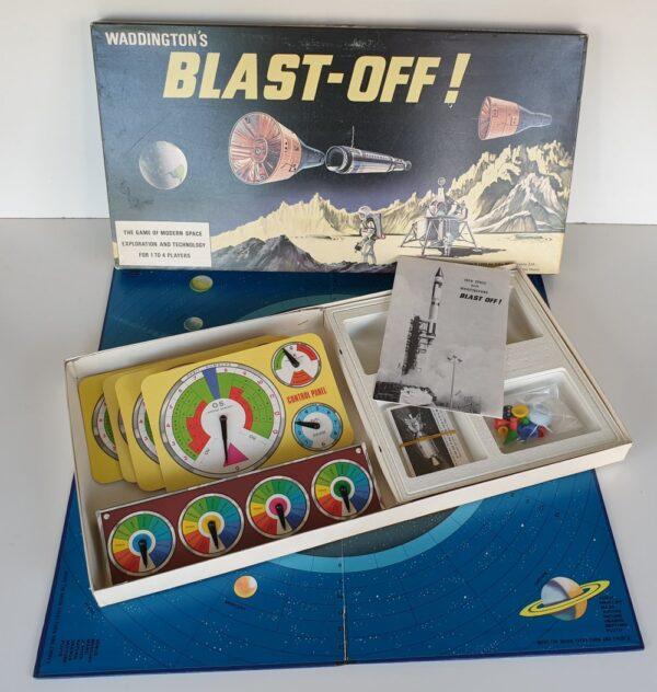 Vintage BLAST OFF Board Game Waddingtons 1960s