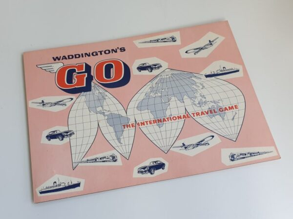 Vintage GO INTERNATIONAL TRAVEL Board Game Waddingtons 1960s