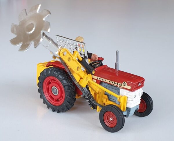 Vintage Corgi 73 Massey-Ferguson 165 Tractor with Saw Attachment 1970