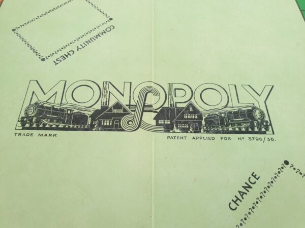 Vintage 1930's Monopoly Board Game W