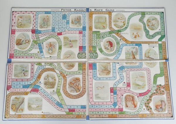 Vintage PETER RABBIT'S RACE GAME Board Game 1930's by Frederick Warne